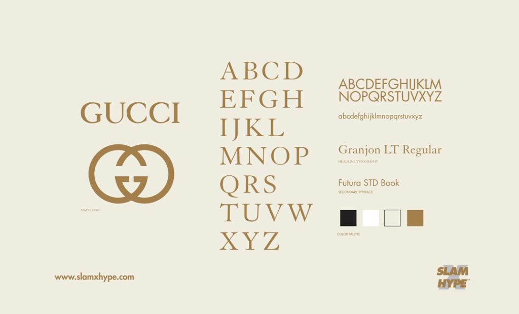 tipografia Gucci